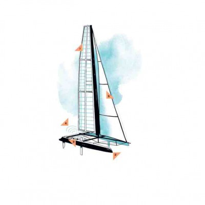 Sản phẩm thuyền buồm một thân du lịch chất liệu composite.