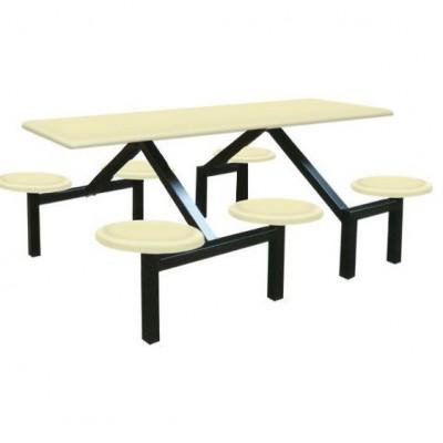 Bộ bàn ghế căn tin composite cao cấp với mẫu dính liền