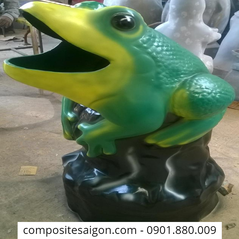 thùng đựng rác composite công cộng